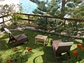 A terrace with sea view: Hotel Barsalini - Elba Island